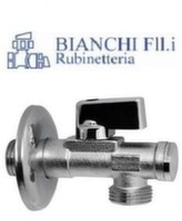 "Кран угловой с фильтром для сантехприборов Bianchi 1/2"" х 1/2"""