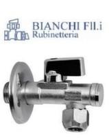 """Кран угловой с фильтром для сантехприборов Bianchi 1/2"""" х 3/8"""" цанговый зажим"""