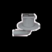 Трап горизонтальный поворотный Redi d50 100x100 мм без гидрозатвора