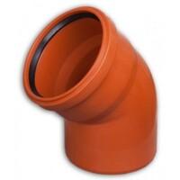 Колено канализационная ПВХ Valrom d125 45°