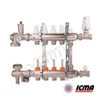 Коллектор для теплого пола ICMA в сборе на 6 выходов