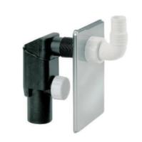 Сифон внутренний металлический хром Go-Plast d40 для стиральной машины