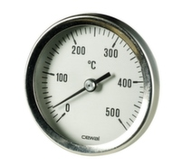 Пирометр биметаллический фронтальный Cewal d63 0÷500°С d9 мм x 300 мм