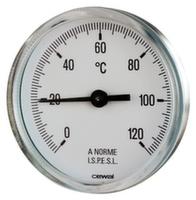 Термометр фронтальный с металлическим корпусом Cewal d63 0÷120°С 10 см