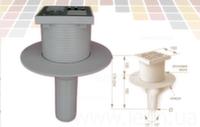 Трап вертикальный поворотный Redi d50 150x150 мм без гидрозатвора