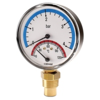 "Термоманометр вертикальный Cewal d80 1/2"" 0÷120°С 4 бар"
